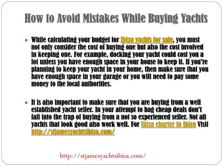 How to Avoid Mistakes While Buying