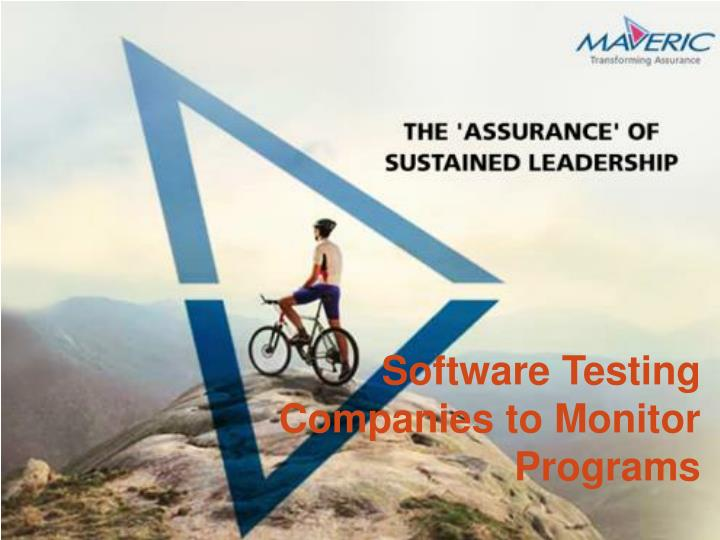Software Testing Companies to Monitor Programs