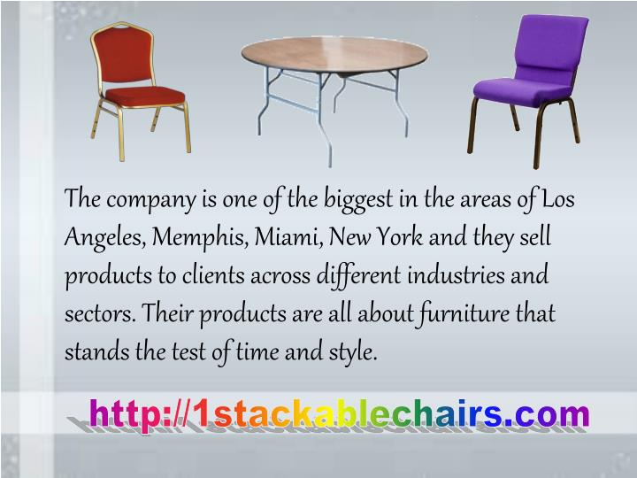 The company is one of the biggest in the areas of Los Angeles, Memphis, Miami, New York and they sel...