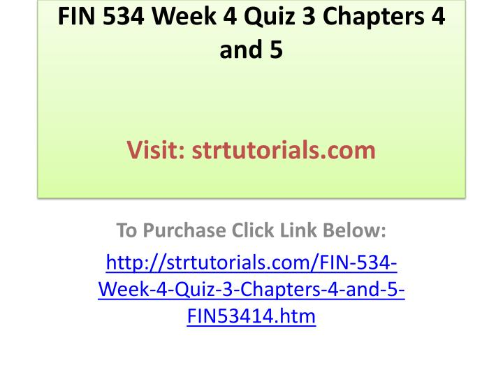 quiz chapter 5 and 4