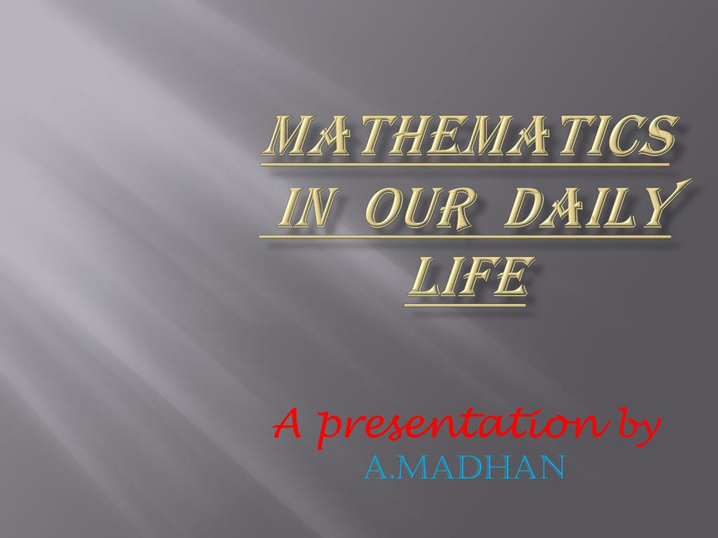 ppt math in daily life powerpoint presentation id 7160548