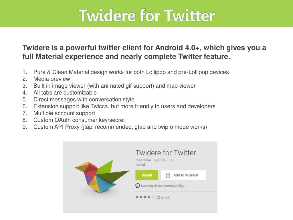 PPT - The 8 Best Twitter Apps for Android Users PowerPoint