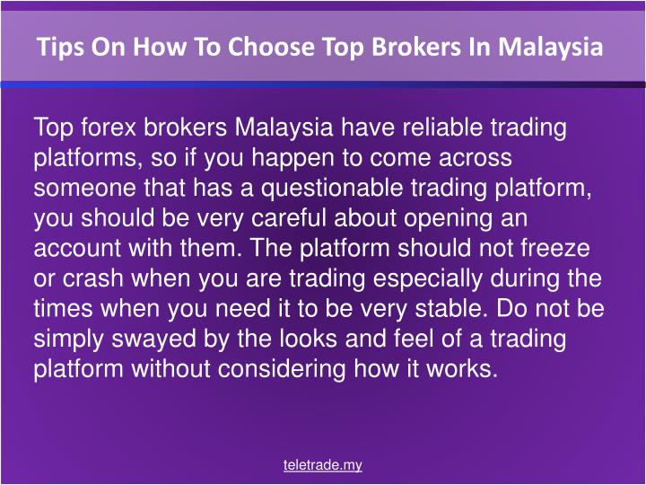 Tips On How To Choose Top Brokers In Malaysia