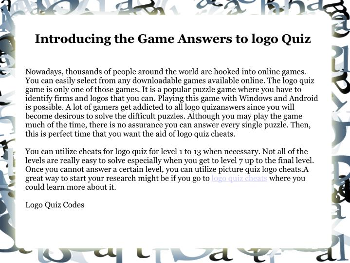 introducing the game answers to logo quiz n.
