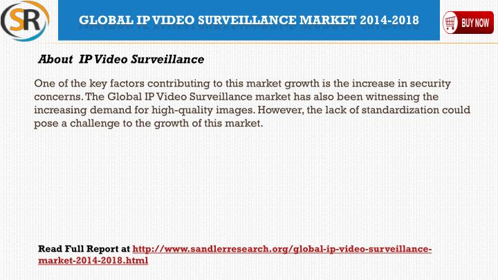 One of the key factors contributing to this market growth is the increase in security concerns. The Global IP Video Surveillance market has also been witnessing the increasing demand for high-quality images. However, the lack of standardization could pose a challenge to the growth of this market.