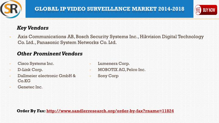Axis Communications AB, Bosch Security Systems Inc.,