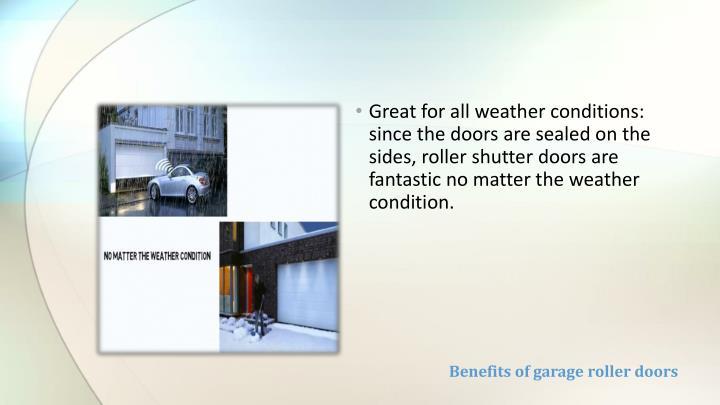 Benefits of garage roller doors1
