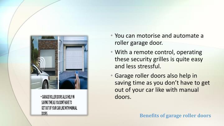 Benefits of garage roller doors
