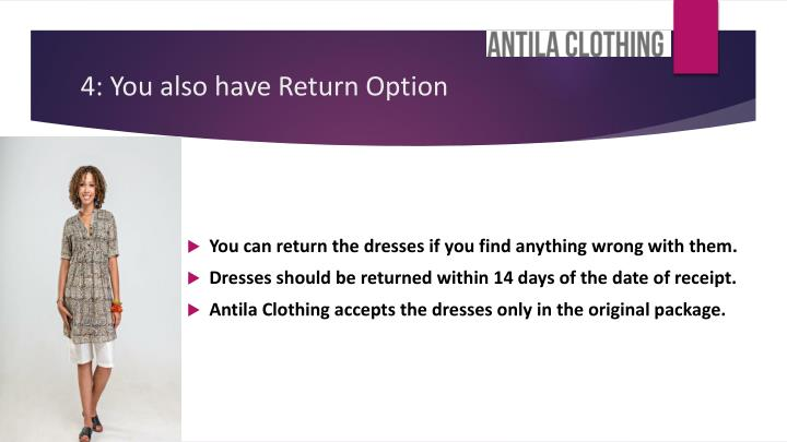 4: You also have Return Option