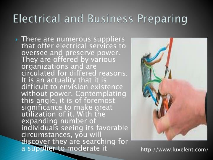 Electrical and business preparing
