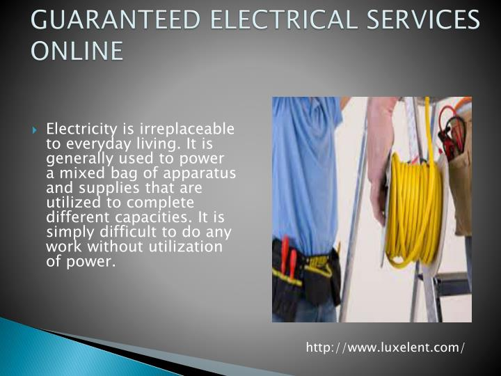 Guaranteed electrical services online