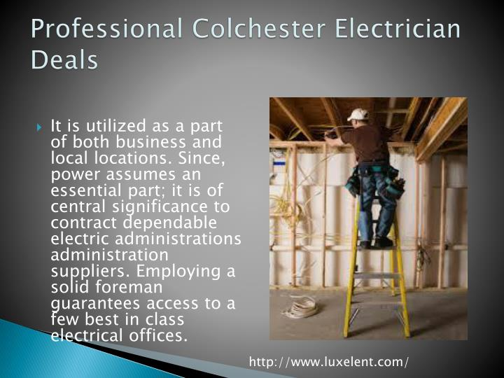 Professional colchester electrician deals
