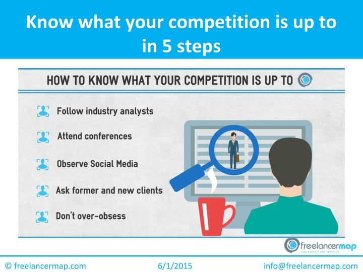 Know what your competition is up to in 5 steps1