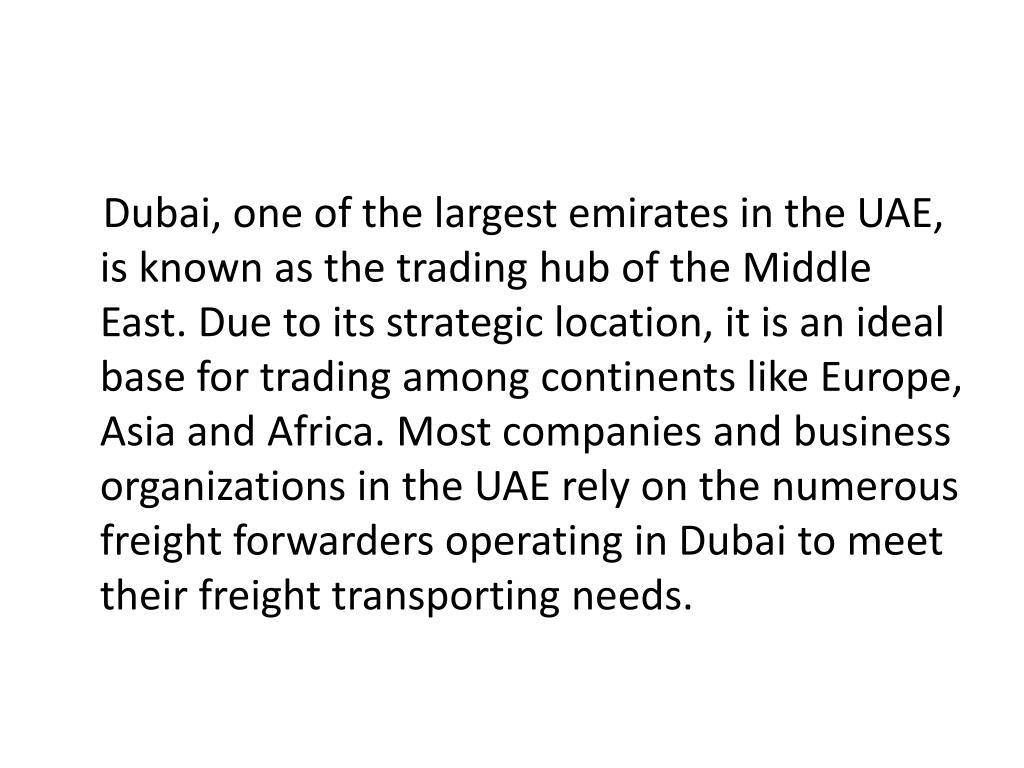 PPT - Choosing a Freight Forwarder in Dubai PowerPoint Presentation