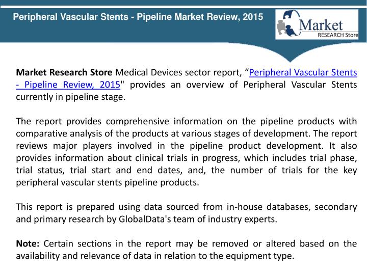 Peripheral Vascular Stents - Pipeline Market Review, 2015