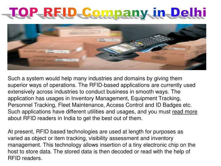 TOP RFID Company in Delhi