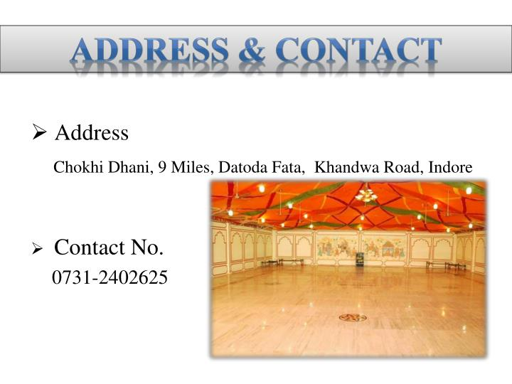 Address & Contact