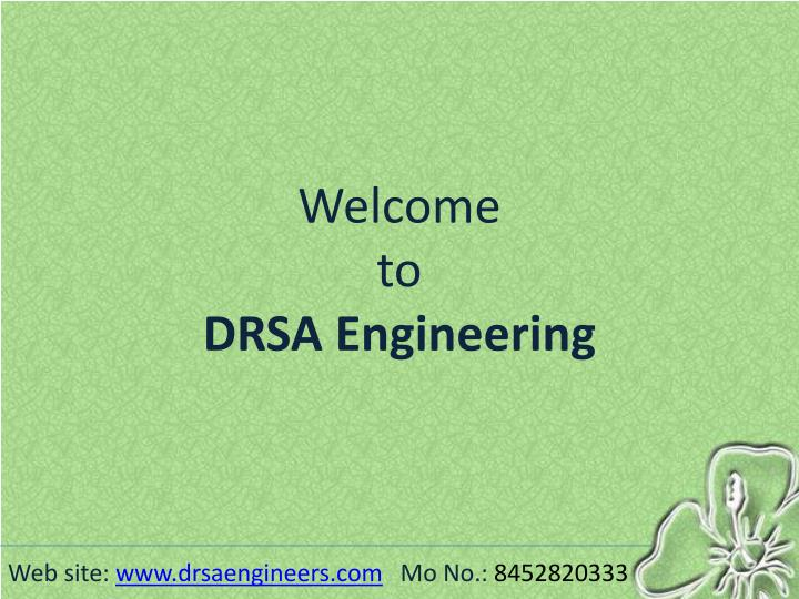 Welcome to drsa engineering