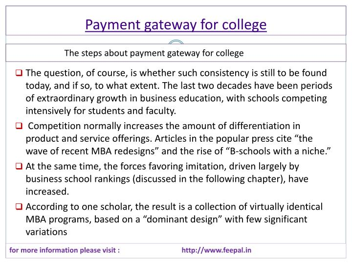 payment gateway for college n.