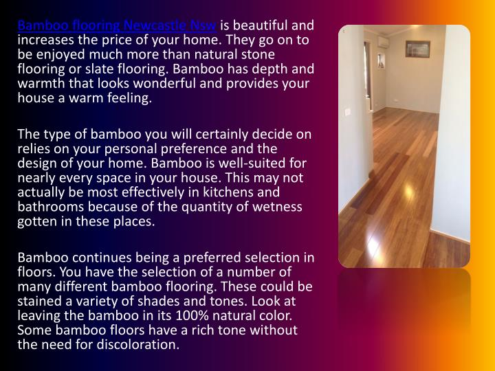Ppt Indication Of Bamboo Flooring Why It Is Ideal For