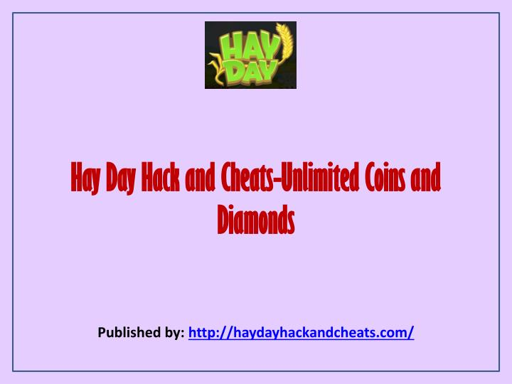 hay day hack and cheats unlimited coins and diamonds n.