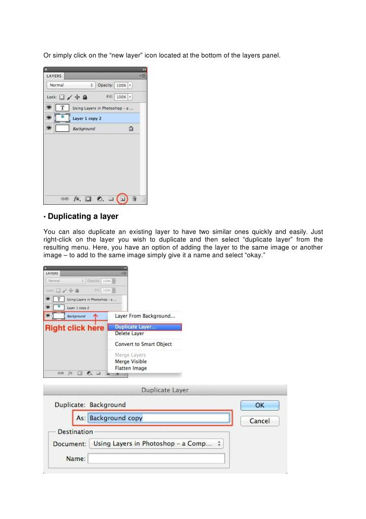Using layers in photoshop a comprehensive beginners tutor