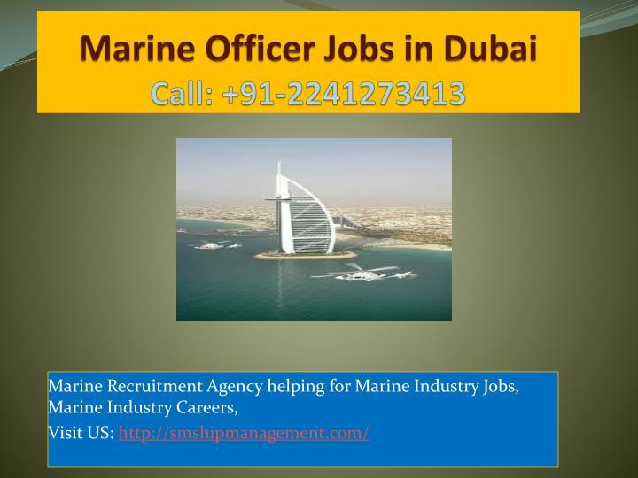 Marine Officer Jobs in Dubai