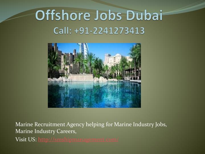 Offshore Jobs Dubai
