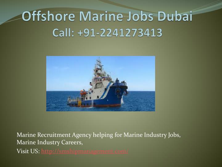 Offshore Marine Jobs Dubai