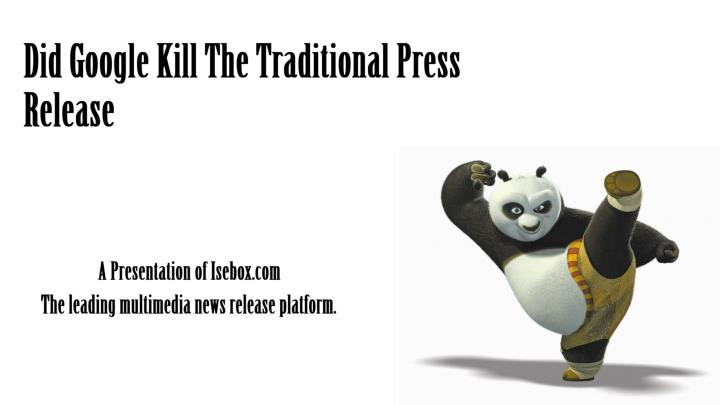did google kill the traditional press release n.