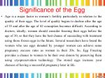 significance of the egg
