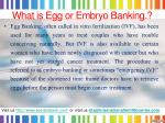 what is egg or embryo banking
