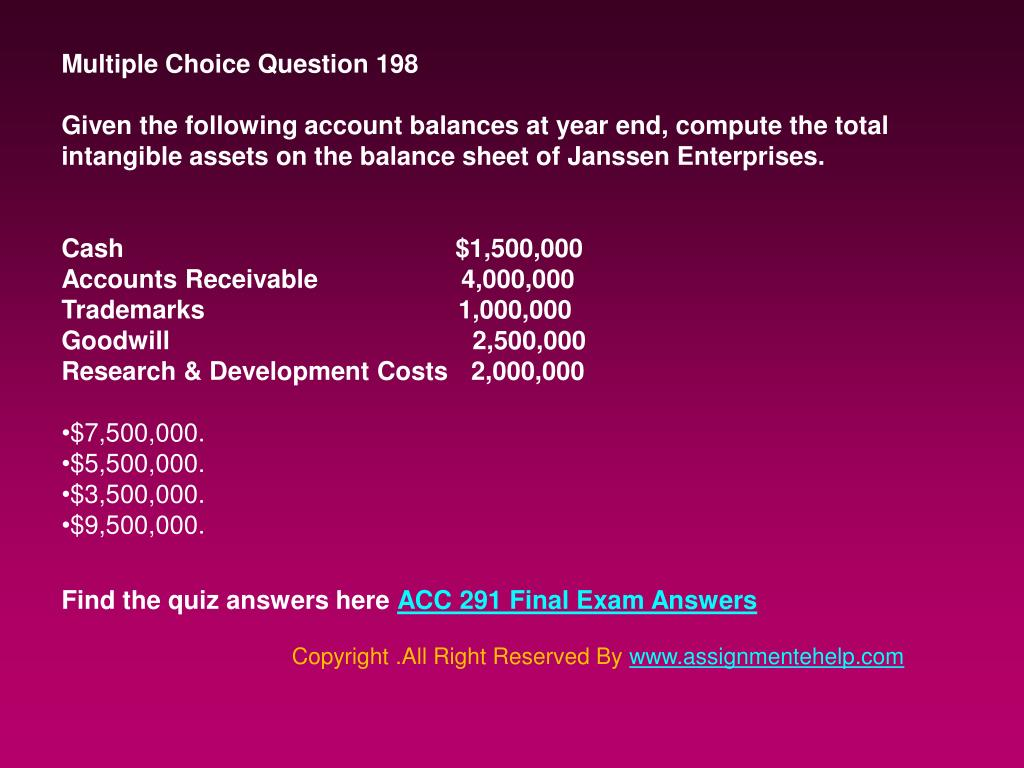PPT - UOP ACC 291 Final Exam Answers PowerPoint Presentation