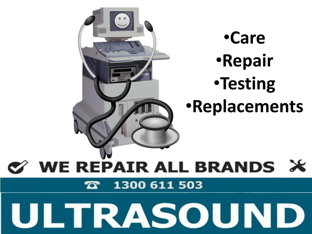 Ppt Ultrasound Probelogic Ultrasound Care Repair
