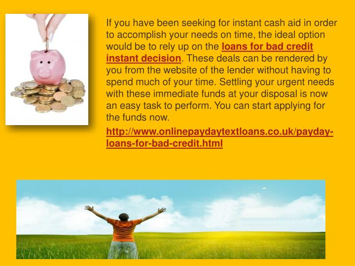 If you have been seeking for instant cash aid in order to accomplish your needs on time, the ideal o...
