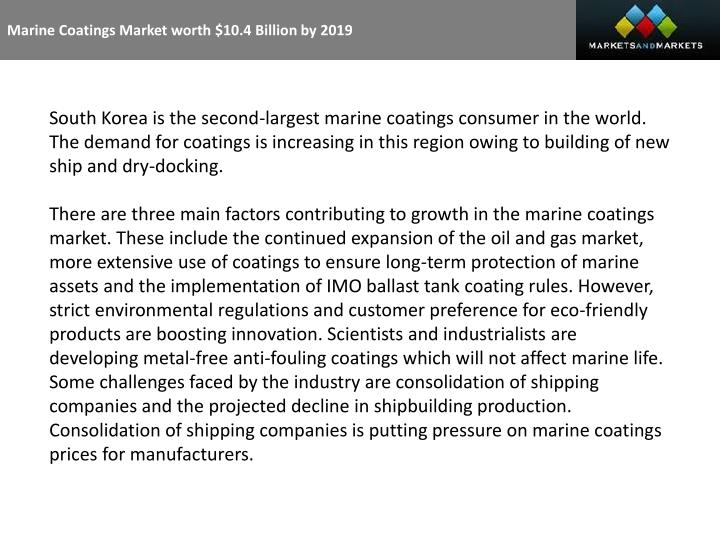 marine coatings market worth 10 4 billion Chinese market flattens the chinese market has in recent years enjoyed strong growth, up from €13 billion in 2011 to hit €153 billion in 2013 the 20 billion segment is finished off by kering (#5) and swatch (#6) - each with upper 2% growth rates the €10 billion plus players include prada (#7.