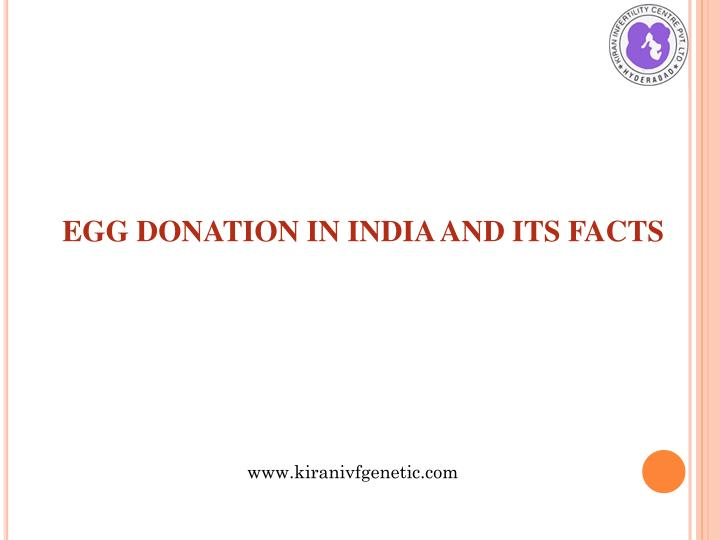 Egg donation in india and its facts
