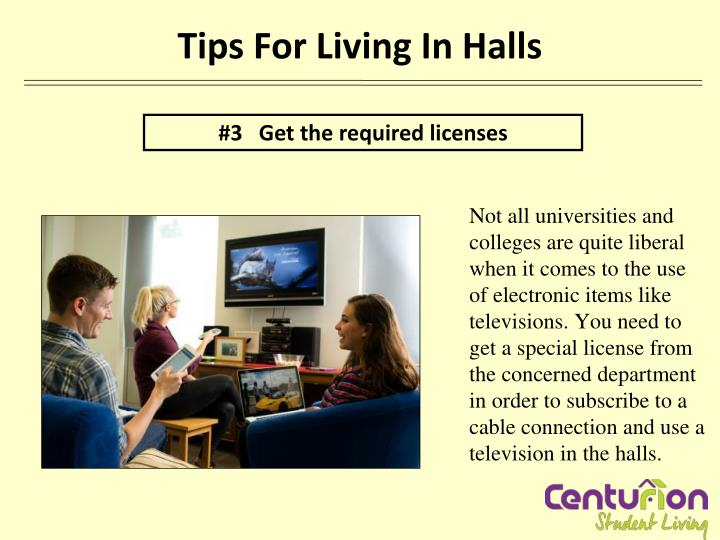 Tips For Living In Halls