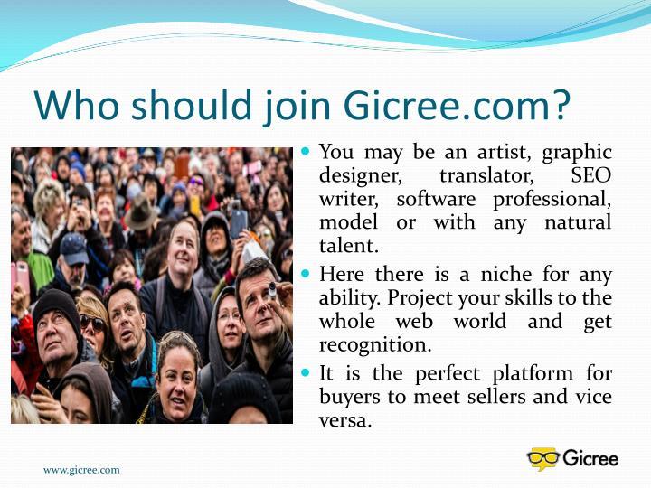 Who should join gicree com