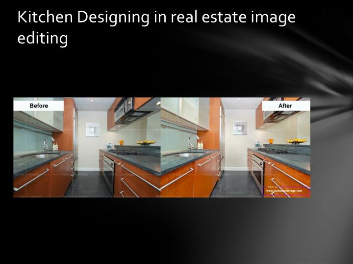Kitchen Designing in real estate image editing