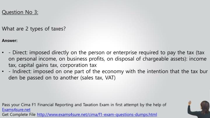 tax exam questions and answers