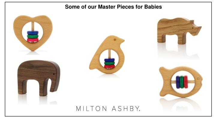 Some of our Master Pieces for Babies