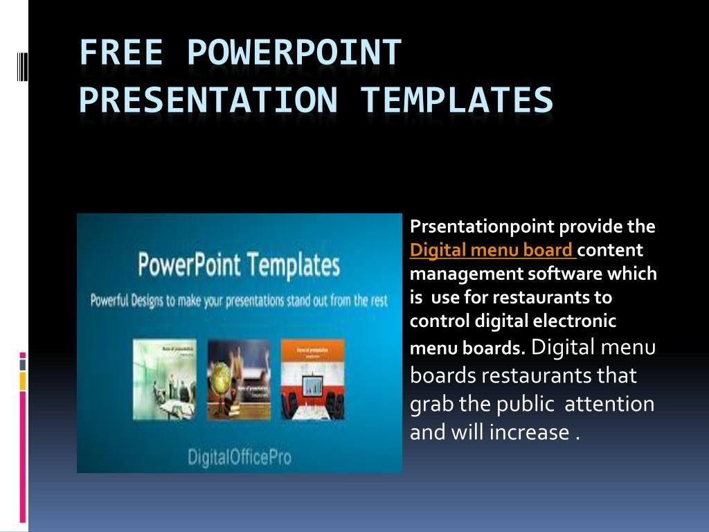 Ppt Digital Signage Software Powerpoint Presentation Free