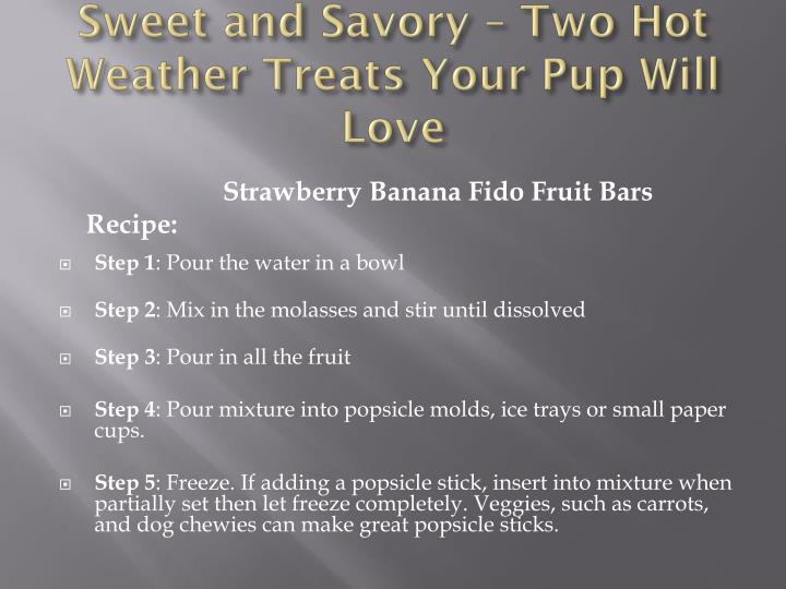 Sweet and savory two hot weather treats your pup will love2