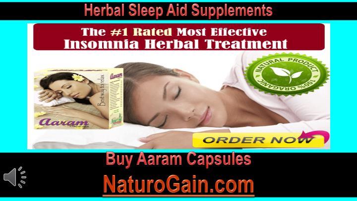 Herbal Sleep Aid Supplements