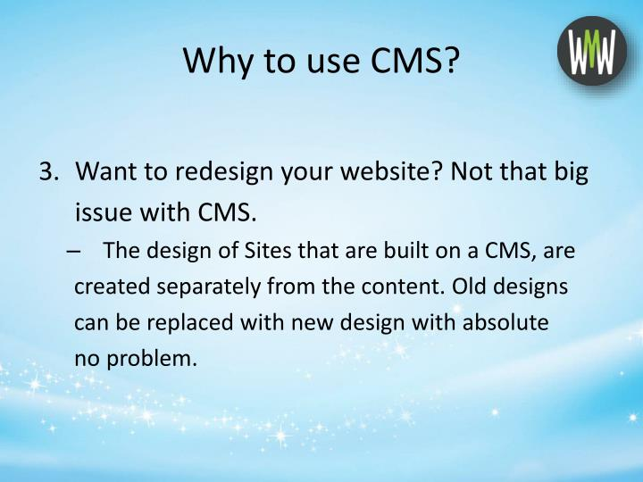 why use content management system If you want to enhance and streamline your content marketing, it's important that your cmo and marketing team aren't baffled by your cms.