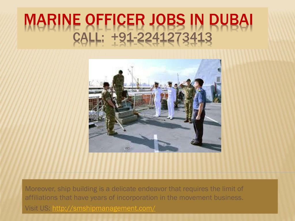 PPT - Marine Officer Jobs in Dubai, Crewing Companies in