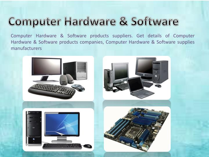 computer hardware and software Computer hardware is any physical device used in or with your machine, whereas software is a collection of code installed onto your computer's all software utilizes at least one hardware device to operate for example, a video game, which is software, uses the computer processor (cpu.