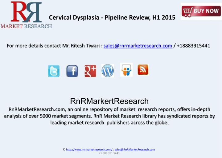 Cervical Dysplasia - Pipeline Review, H1 2015