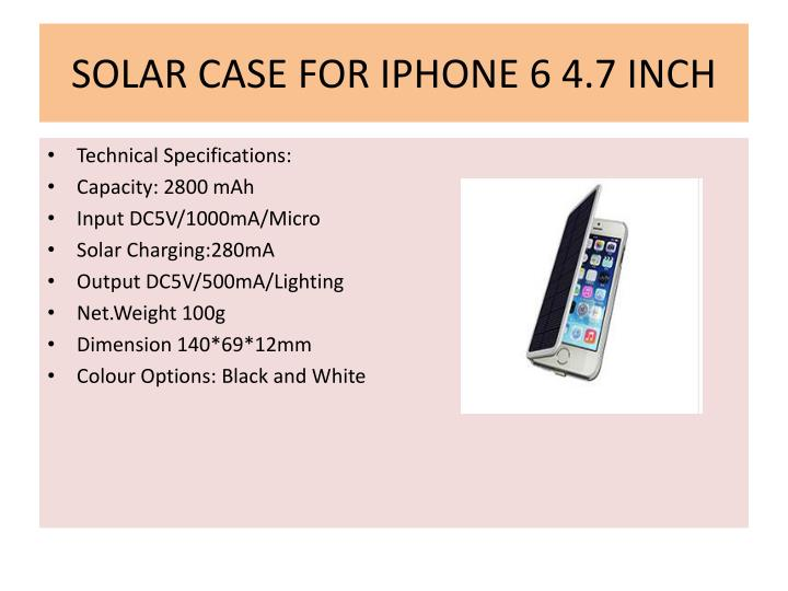 Solar case for iphone 6 4 7 inch